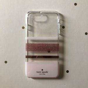 Pink Gold Charlotte Stripe Kate Spade iPhone Case